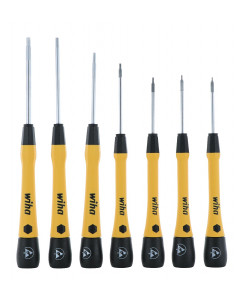 7 Piece ESD Safe PicoFinish® Precision Hex Metric Screwdriver Set with Canvas Roll Pouch
