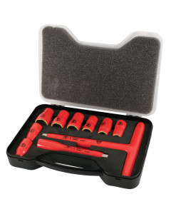 "Insulated 3/8"" Drive T-Handle and Inch Sockets 10 Piece Set"