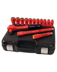 """Insulated 1/2"""" Drive Socket 14 Pc. Set Inch"""