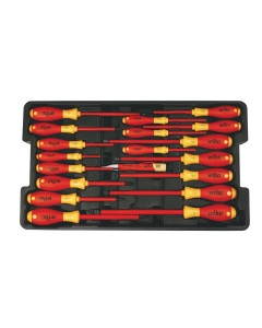 Insulated Screwdrivers in Tray 19 Piece Set