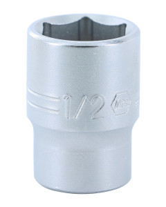 "1/4"" Drive Socket, 6 Point, 1/2"""