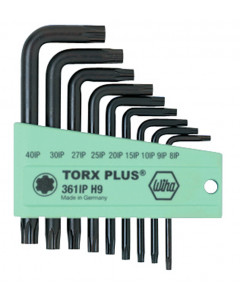 TorxPlus® Short Arm L-Key 9 Piece Set IP8-IP40