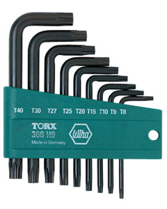 9 Piece Torx® L-Key Short Arm Set