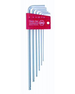 Ball End Hex L Key Chrome Metric 6 Piece Set