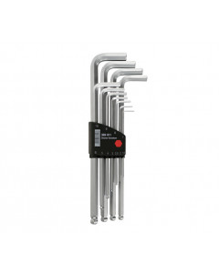 Ball End Hex L-Key Chrome Metric 11 Piece Set