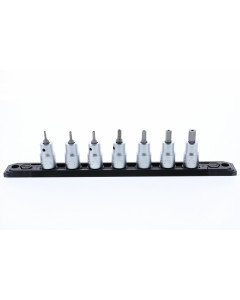 "Security Hex Metric Bit Socket 3/8"" Square Drive 7 Piece Set"
