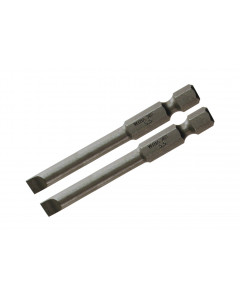 Slotted Power Bit 4.0 x 70mm Pack of 2 Bits