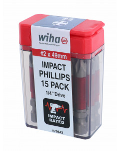 Terminator Impact Power Bit Phillips #2 Pack of 15 Bits