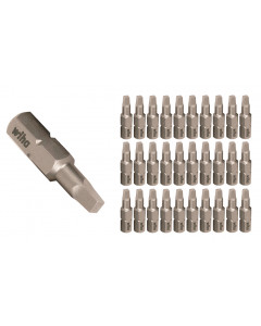 Square Contractor Grade Insert Bits #1, #2, #3 x 25mm 30 Piece Bulk Packs