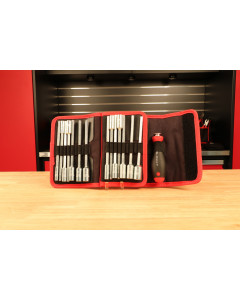 Drive-Loc VI Interchangeable Blade 32 Piece Set in Folding Wallet