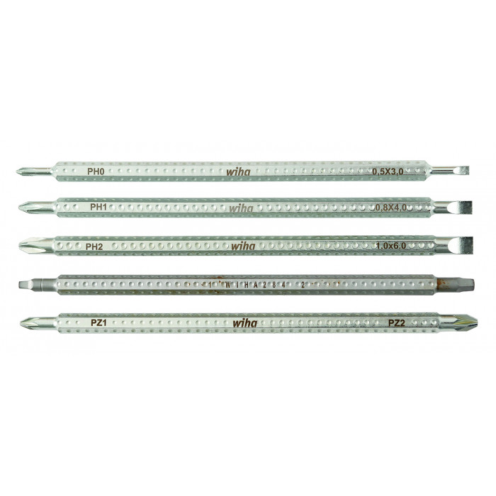 Drive-Loc VI Slotted Phillips Square PoziDriv 5 Blade Set