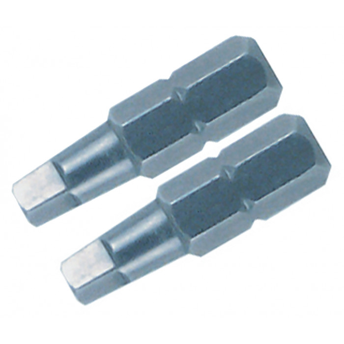 Square Insert Bit #3 x 25mm Pack of 2 Bits