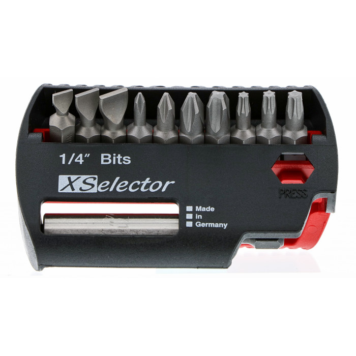 Slotted/Phillips/Torx® XSelector Bit Set with Quick Release Holder