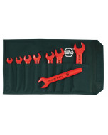 Insulated Open End Wrench 8 Piece Inch Set