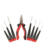 Precision Slotted and Phillips Screwdrivers - 8 Pc.Set Includes Long Nose Pliers