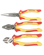Insulated Industrial Pliers and Cutters 3 Piece Set