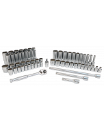 """63-Piece 3/8"""" Drive MM and  SAE Socket Set"""