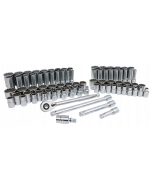 """84-Piece 1/2"""" Drive MM and SAE Socket Set"""
