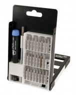 System 4 Slotted/Phillips/Hex Metric/Hex Inch Micro Bit 26 Piece Set with Standard Precision Handle