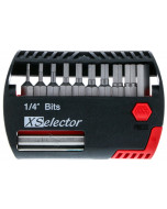 """11 Piece Hex XSelector and Magnetic Bit Holder Set - 1/16"""" - 1/4"""""""